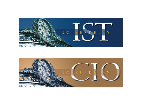 website header design for new UC Berkeley CIO and IST department