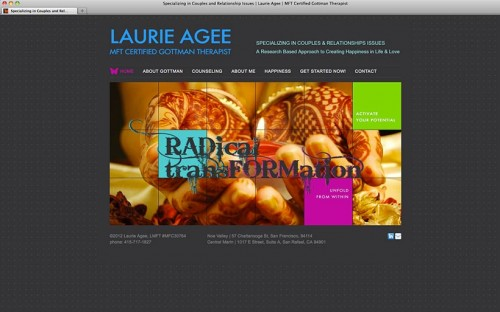 Laurie Agee, MFT website home page