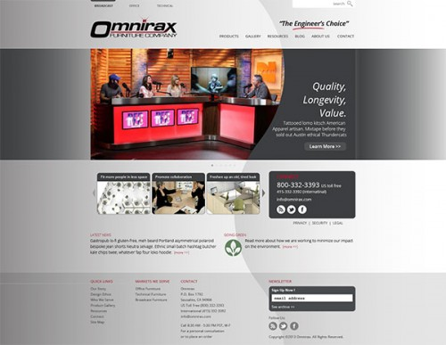 Omnirax Broadcast Furniture website