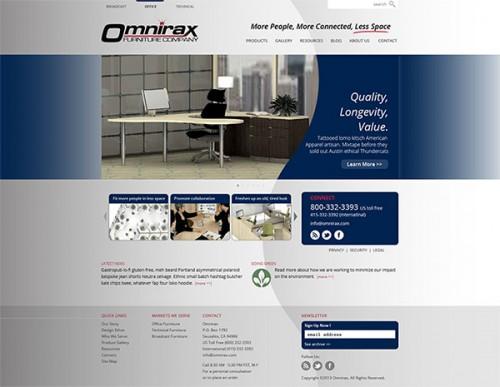 Omnirax Office Furniture website